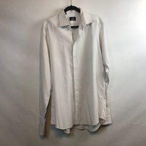 IKe behar button up shirt Size 17 Neck french cuff